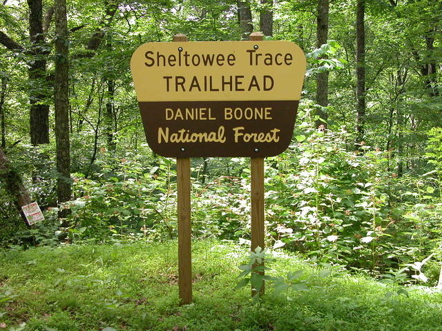 Sheltowee Trace Trailhead at Ky 1956 (old Highway 80)