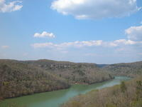 Laurel Lake, Bee Rock OV, & mouth of the Rockcastle River