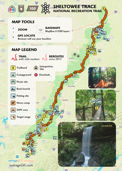 Sheltowee Trace National Recreation Trail on
